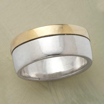 You'll never want to part with this handmade silver & gold Soulmates Ring.