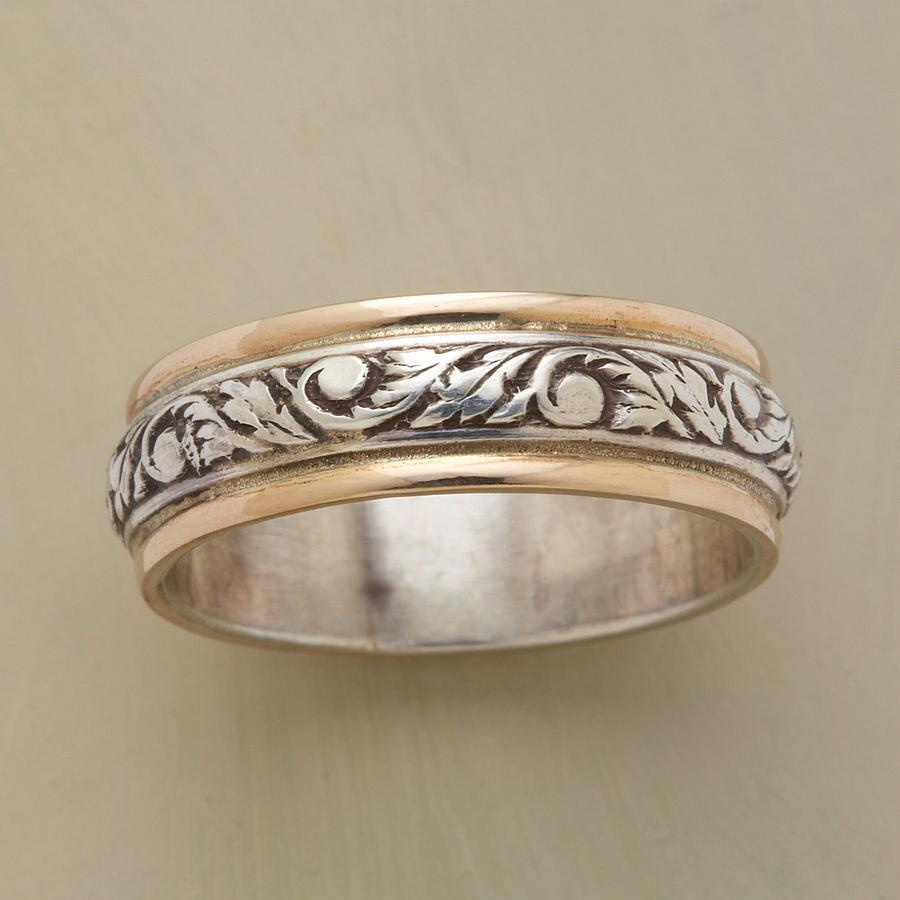 SILVER & GOLD TWINING VINE BAND