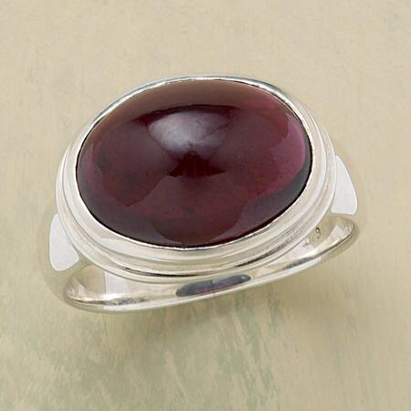 OVAL BORDEAUX RING