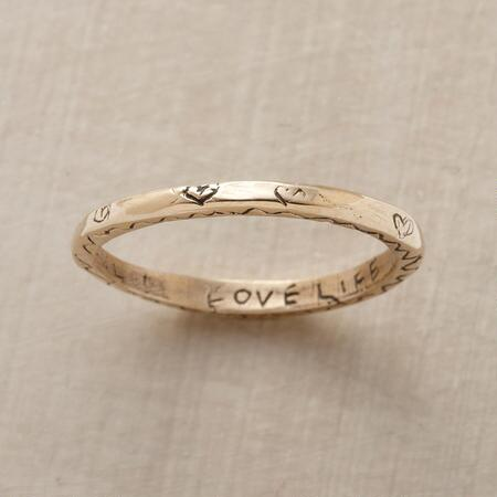 YELLOW GOLD VITALITY RING