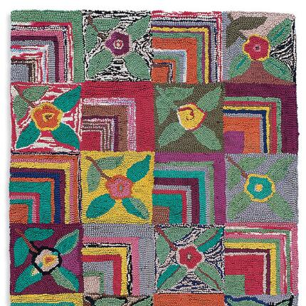 Bring any room into bloom with our handmade Gypsy Rose Rug's resplendent colors.