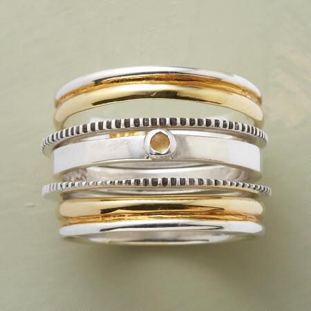 FIVE SENSES STACK RING