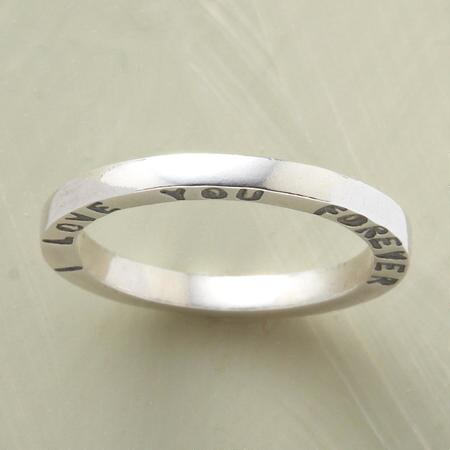 Beautiful in form and message, this handmade endless love band ring is a treasure.