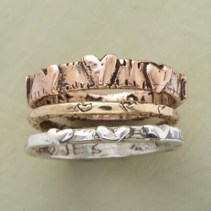 TRIPLE TIER HEART RINGS