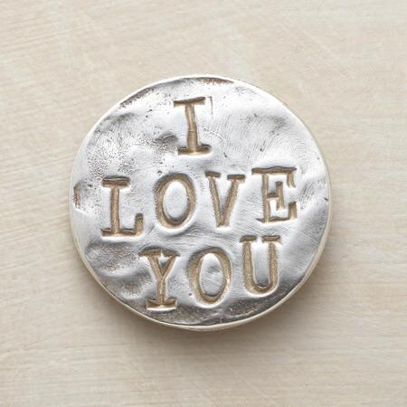 A sterling silver love token that lets you send a message as enduring as your affection.