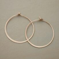 LARGE GOLD HAND FORGED GYPSY HOOPS