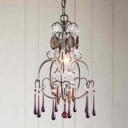 This beautiful handmade gypsy chandelier will be the focal point of any room.