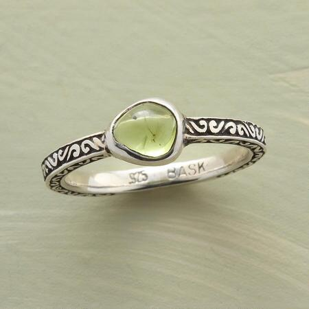With no two alike, this organic peridot ring is truly an unmatched accessory.