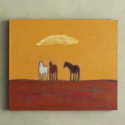 THREE PONIES PAINTING