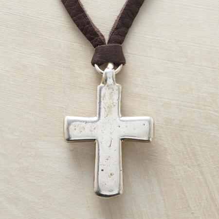 Simple yet bold, this handmade cross necklace makes a statement.