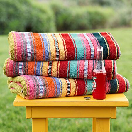 SUNDANCE SUPER-SIZED STRIPED BEACH TOWEL