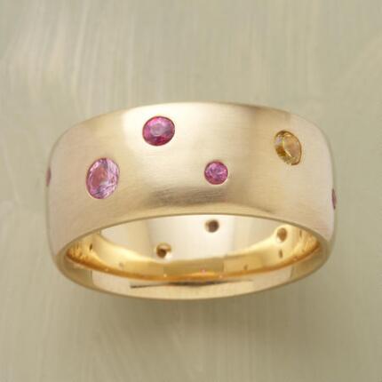 GOLD SAPPHIRE SPECTRUM RING
