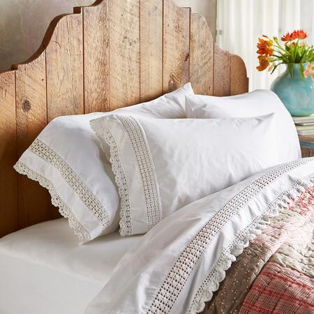 Our cotton percale pillowcases lend the bedroom a classic sensibility.