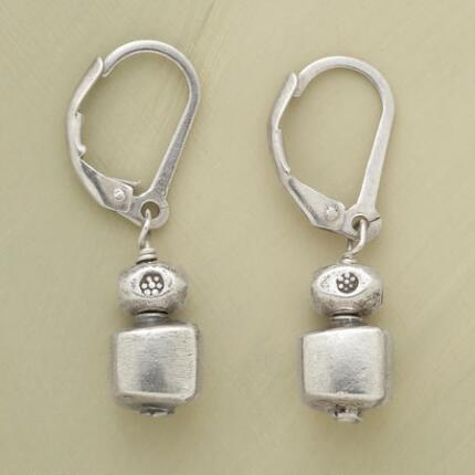 Subtly sweet, these sterling silver cube earrings will square away any look perfectly.
