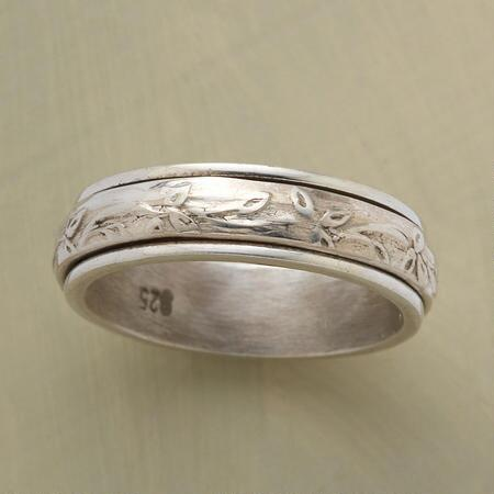 Bring peace with you wherever you go when you wear this serenity spinner ring.