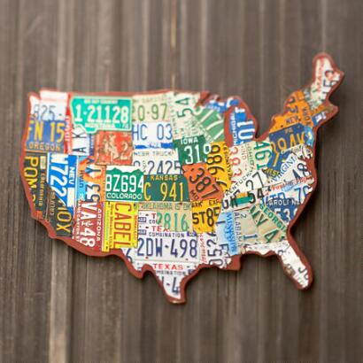 LICENSE PLATE U S A WALL ART