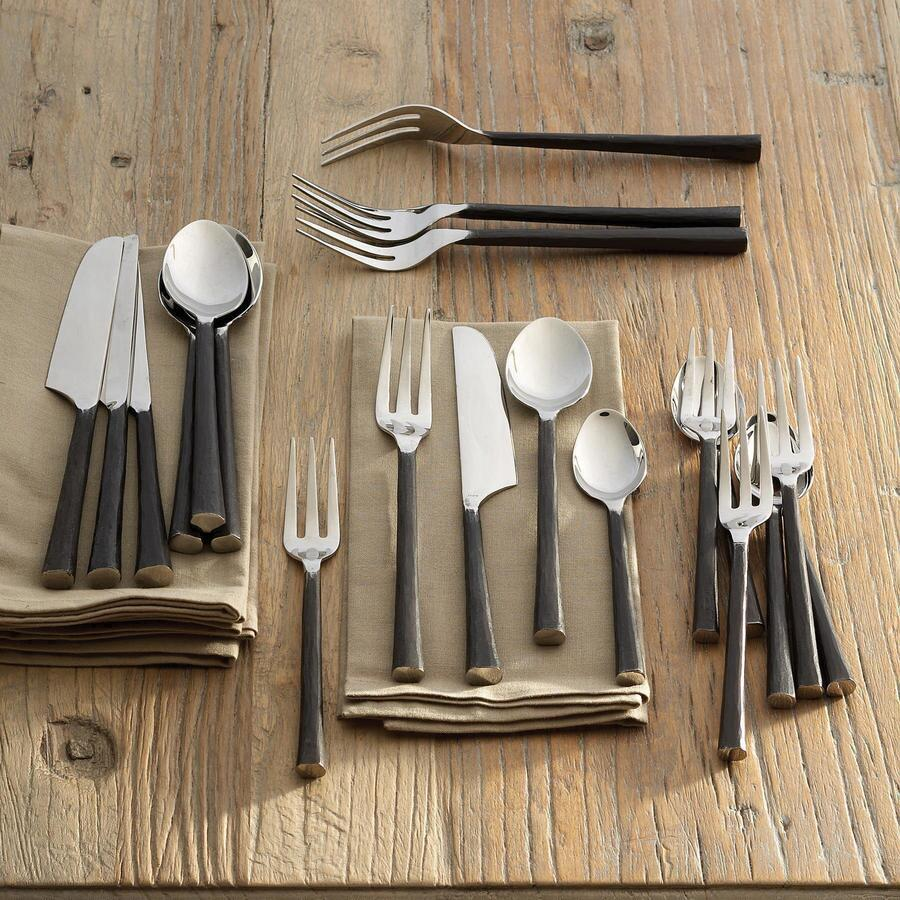 ARTISAN HAMMERED FLATWARE, 20-PIECE SET