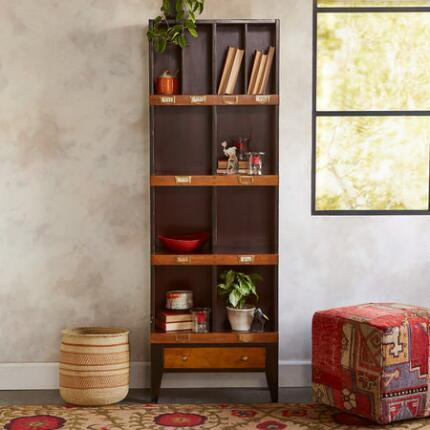 This medium wooden floor cabinet offers a handsome sense of history.