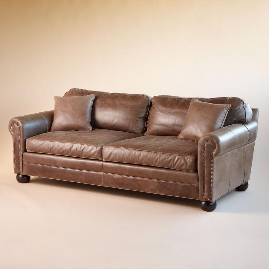 OGDEN LEATHER SOFA