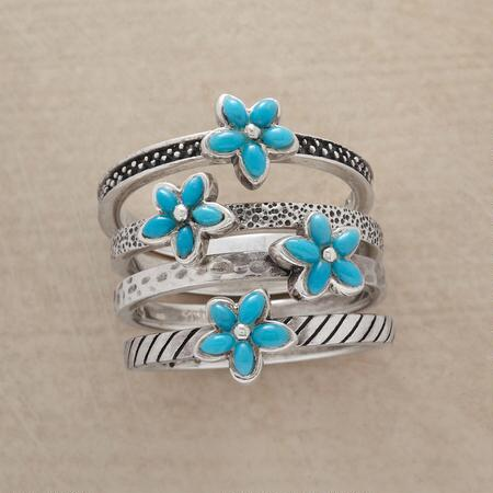 TURQUOISE BOUQUET RING SET