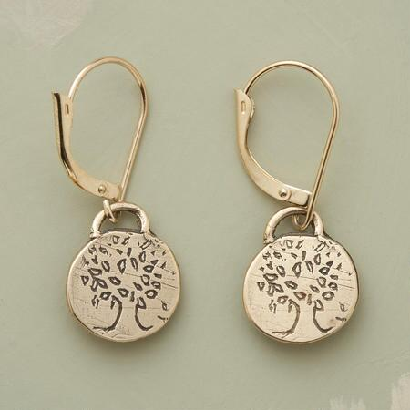 TREE OF STRENGTH EARRINGS-GOLD