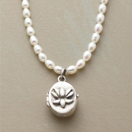 LOTUS LOCKET NECKLACE