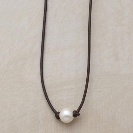 A handmade pearl necklace as sublimely lovely as it is perfectly simple.