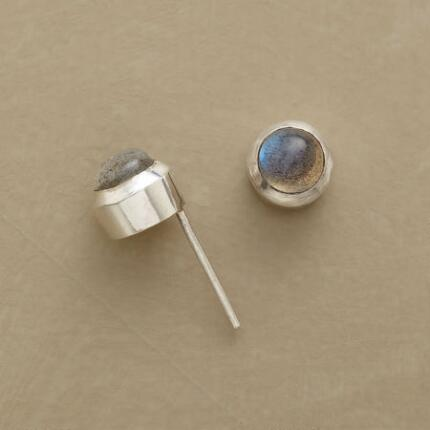 Simply elegant as can be, these labradorite and sterling stud earrings will look lovely with everything.