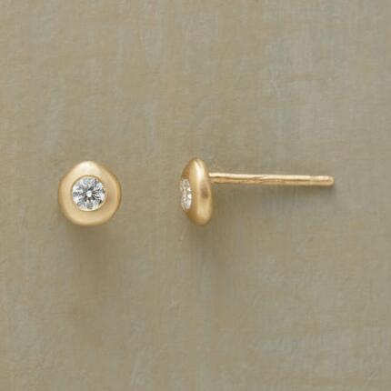 YELLOW GOLD DIAMONDS ON ICE EARRINGS