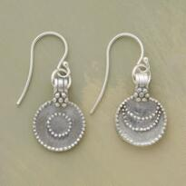 SILVER LUNA / SOL EARRINGS