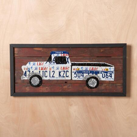 LICENSE PLATE WALL ART, ALL 50 STATES
