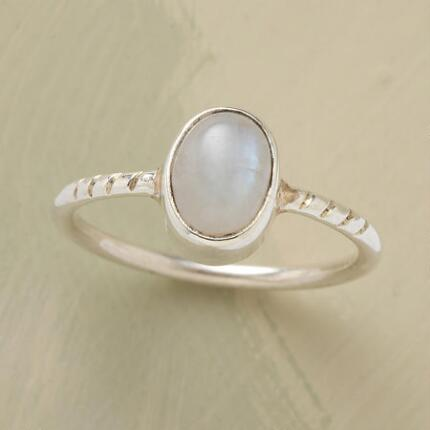 A handcrafted moonstone ring that will grace your look with an ethereal air.