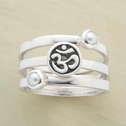 INNER PEACE STACK RINGS, SET OF 3
