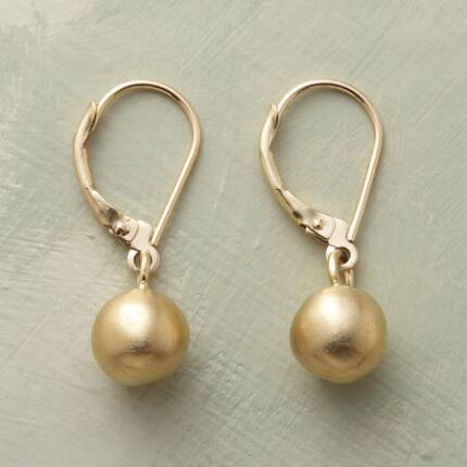 BRUSHED BAUBLE EARRINGS