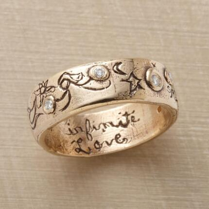 The fine details of this infinite love ring by Jes MaHarry positively sparkle.