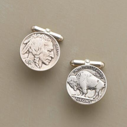 VINTAGE BUFFALO NICKEL CUFF LINKS