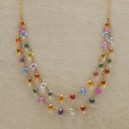 This handmade sapphire briolette necklace is delicately crafted yet powerfully beautiful.
