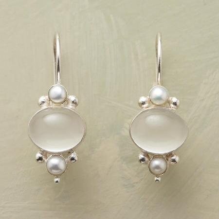 MOONLIT PEARL EARRINGS