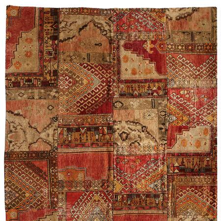 AMARNA PATCHWORK KNOTTED RUG