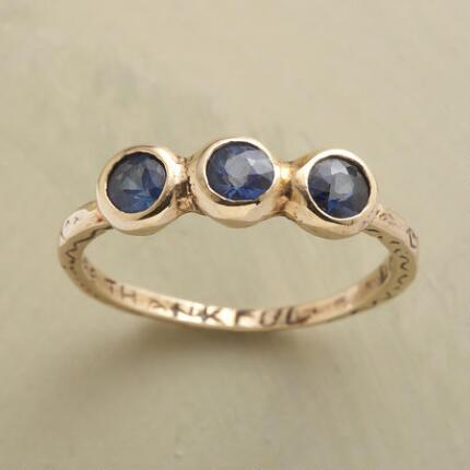 A Jes MaHarry blue sapphire ring that marries meaning and beauty in a thoughtful design.