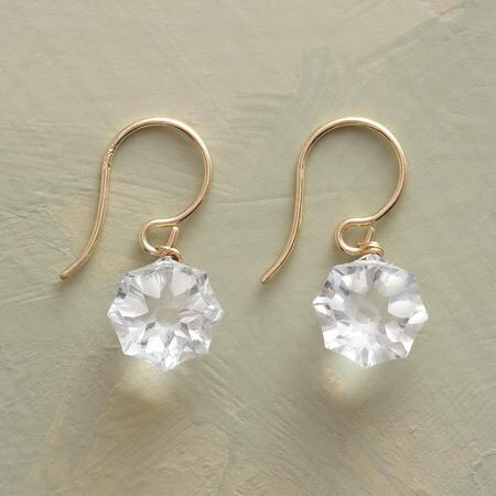 CRYSTAL CLEAR TOPAZ EARRINGS
