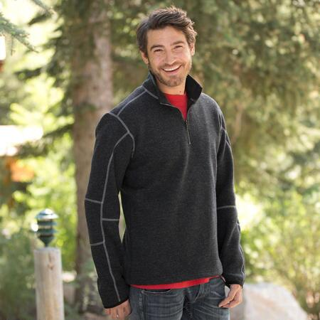 This Kuhl® quarter zip pullover sweater will have you handsomely covered when the air gets crisp.