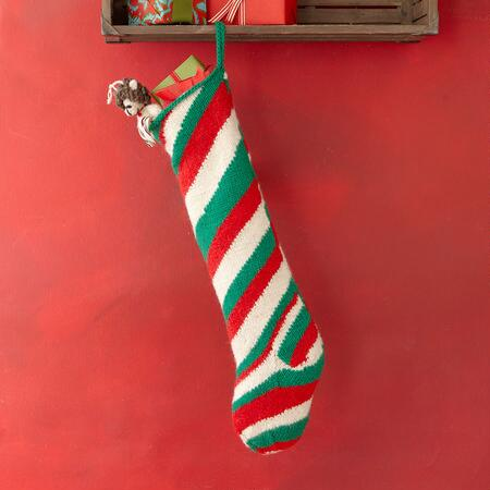 HEIRLOOM HOLIDAY STRIPES STOCKING