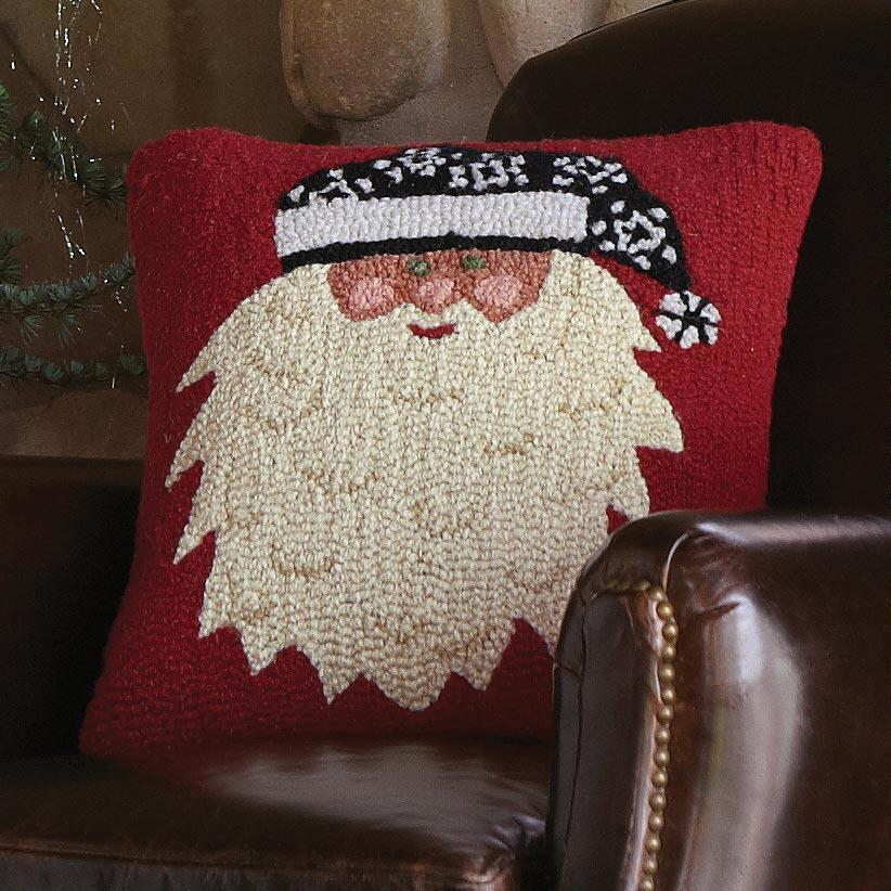 BLACK HAT SANTA PILLOW