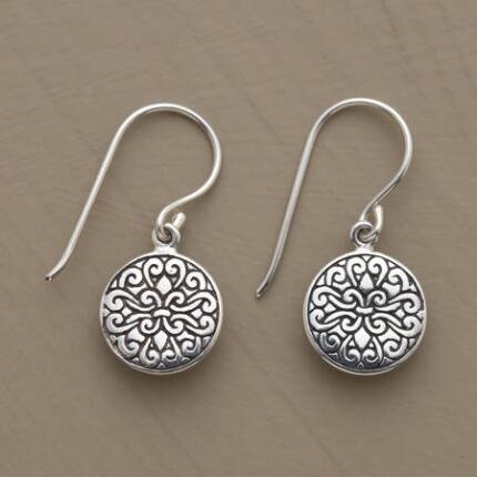 With their elegant details, these sterling swirl motif earrings make a shining finishing touch for any ensemble.