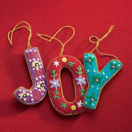 J-0-Y ORNAMENTS, SET OF 3