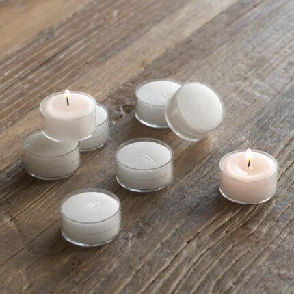 WHITE TEALIGHTS, SET OF 8