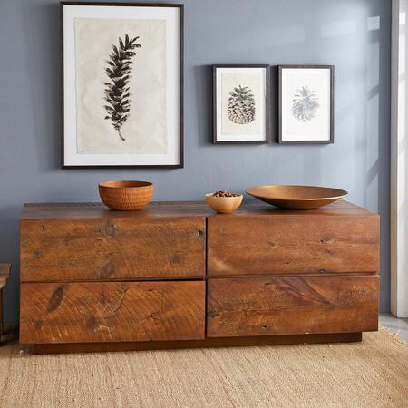 A reclaimed wood console table that will lend a rustic sense of distinction to any space.