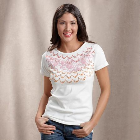 ROWS UPON ROSE TEE