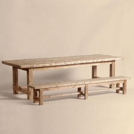 MILLHOUSE SMALL TABLE AND BENCH SET